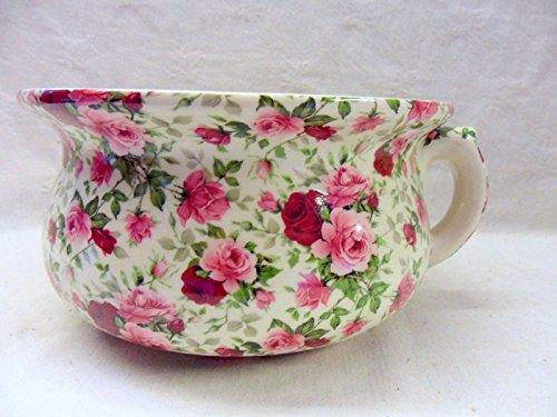 décoratifs Rose Summertime Chintz Motif pot de chambre Pot de fleurs