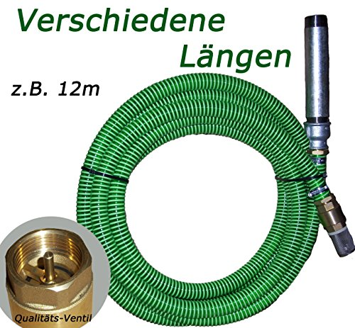 Regenfass Gartenschlauch Schwimmerventil für Schwengelpumpe 4m Saugschlauch