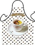 Witzige Schürze mit Motiv - Espresso, Kaffee - Grillschürze, Kochschürze, Backen, Geschenk, Geburtstag - Mit gratis Urkunde