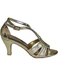 b5740b2968 Amazon.es  Sandalias Color Bronce - Zapatos  Zapatos y complementos