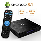 Sidiwen Android 8.1 TV Box T9 4GB Ram 64GB ROM RK3328 Quad-Core Cortex-A53 2.4GHz 5.0GHz WiFi Bluetooth 4.1 Ethernet USB 3.0 Soporte 3D 4K2K Ultra HD H.265 Smart Set Top Set
