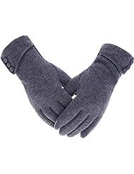 Acelec Womens Touch Screen Phone Fleece Windproof Gloves Winter Warm Wear
