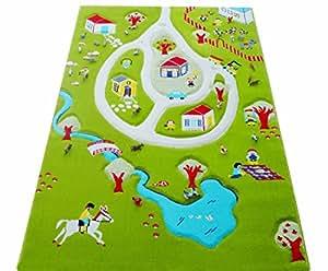 Little Helper 101MD011YETZ10152 IVI Tais de jeu 3D hypoallergénique pour enfant Multicolore 100 x 150cm