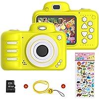 Vannico (16GB microSD 1080P HD per Bambini Fotocamera Digitale, 800MP 2.4 Pollici Outdoor Travel Portatile Fotocamera per Bambini, 3-14 Anni Ragazzo e Ragazza Regalo di Compleanno (Giallo)