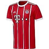 adidas Herren FC Bayern München Home Replica Jersey 2017/18 Trikot, Fcb True Red/White, 3 XL