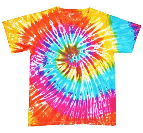 Preisvergleich Produktbild UBISCO Tie Dye T-Shirt Batik Hippie Bunt Flower Power - Größe L