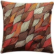 """Impresión hermosa de la hoja del extracto 16 """"x 16"""" almohadilla colorida de la cubierta del amortiguador para la cama del sofá"""