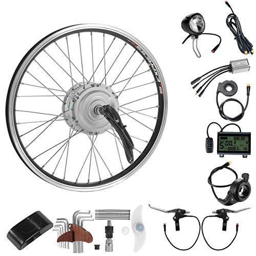 SEASON 20 Zoll 36V250W E-Bike Conversion Kit Vorderrad Elektrofahrrad Umbausatz mit Frontmotor und LCD-Anzeige (Bike-motoren-kit 18)