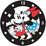 Disney Mickey & Minnie Mouse 13.5 inch Cordless Wood Reloj De Pared