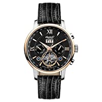 Ingersoll Men 's Automatic Watch withschwarz Dial Cronógrafo pantalla andschwarz Leather Strap IN6900RBK