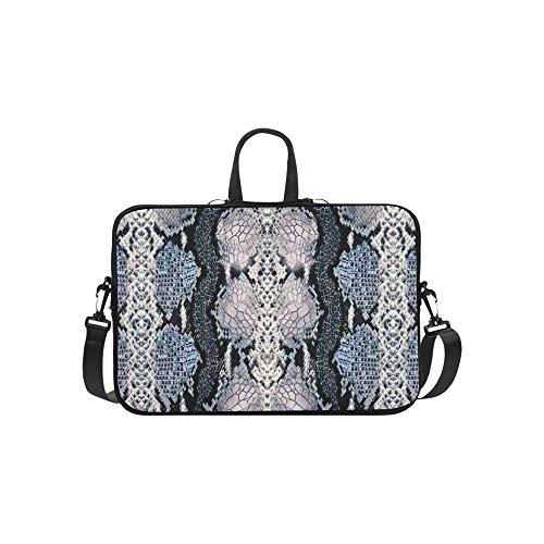Grüne Boa Constrictor Muster Aktentasche Laptoptasche Messenger Schulter Arbeitstasche Crossbody Handtasche Für Geschäftsreisen -