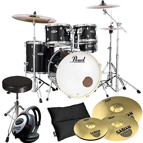 pearl-export-exx725z-c31-black-inkl-becken-keepdrum-drum-hocker-kopfhrer