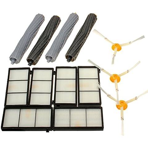 Yongse 13pcs Filtros paquete de cepillo kit de reemplazo para iRobot Roomba 800 Serie 900