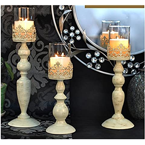 Titolari propulsione di stile europeo a lume di candela cena/Romantici nozze ornamenti depoca in ferro battuto candelabro/Candela tavolo