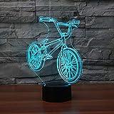 3D Led Chevet Bmx Nuit Lumière Vélo Forme Usb Table Lampe 7 Changement De Couleur...