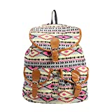 #8: DESENCE Women & Girls Stylish Backpack for College/School/Travel - Canvas -with Adjustable Strap 10 liters (Pink)