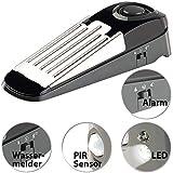 VisorTech Türkeil: 5in1-Multifunktions-Türstopper, Alarm, Wassermelder, PIR-Sensor & LED (Türsicherung)