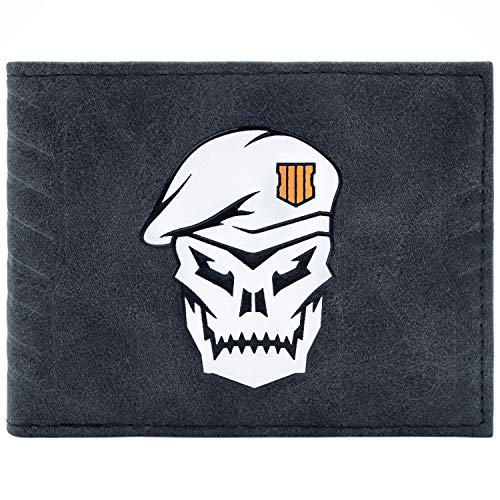 Cartera de Call of Duty Black Ops 4 Soldado del cráneo Negro