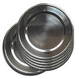 JPF - Platzteller rund - Set von 6 Stück - Edelstahl - Silber Ø 34 cm - Silber
