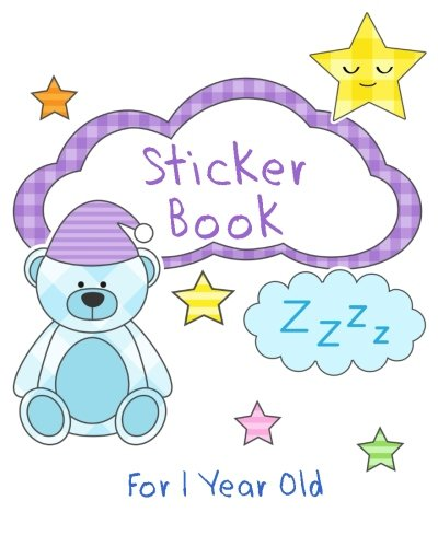 Sticker Books For 1 Year Old: Blank Sticker Book, 8 x 10, 64 Pages