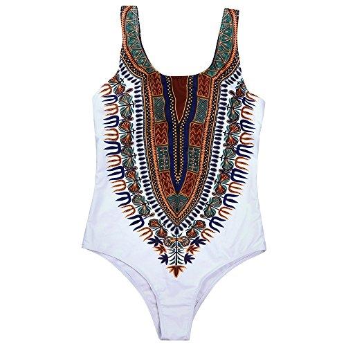 Pinklu Bikini De Una Pieza De Gran TamañO con Estampado Africano Mujer...