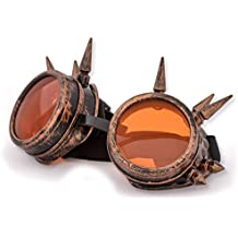 4sold (TM) Steampunk Antique Copper Cyber Goggles Rave Goth Vintage Victorian like Sunglasses all pictures