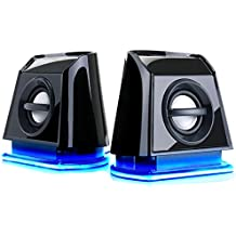 GOgroove Gaming Altoparlanti Stereo Multimediali con Luci LED Blu ,