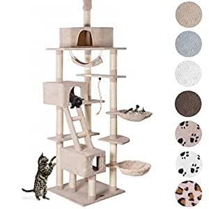 Happypet Cat Scratcher Cat Tree Activity Centre Scratching Post ceiling high 2,30 to 2,60 tall Beige