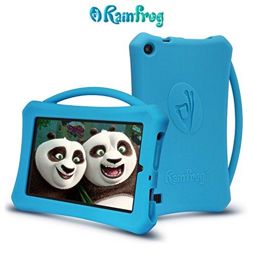 Armera Fire 7 Hülle 2015 mit Griff (5. Generation) für Kinder- Kindersichere Schutzhülle für Amazon Kindle Fire 7 2015 (Kitty Hello Leopard)
