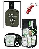 First Aid Kit Erste Hilfe Set medium oliv + AOS-Outdoor Flaschenöffner