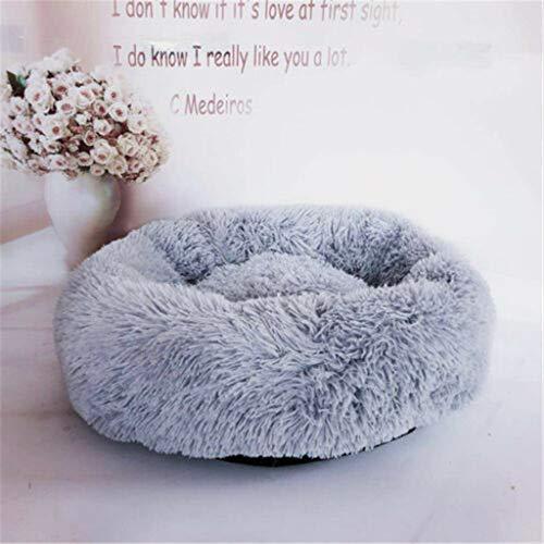Cuccia per cani da interno-TianranRT♕ Cane rotondo Gatto Inverno caldo sacco a pelo lungo peluche morbido letto per animali letto...