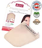 Harem's Secret, Massagehandschuh, Peelinghandschuh, Hautreinigung für das Gesicht und die Lippen, 100% Seide