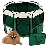 WeFun Recinzione per Cani,Recinzione per Cuccioli,Campo Da Gioco Per Animali (Green)