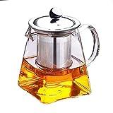 HYY-YY - Bollitore in Vetro borosilicato Trasparente, 350 ml, Elegante Tazza da tè in Vetro con infusore in Acciaio Inox