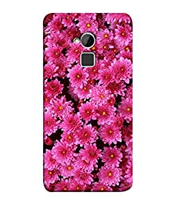 Fuson Designer Back Case Cover for HTC One Max :: HTC One Max Dual SIM (Colourful Vibrant Flowers Flowery Design )
