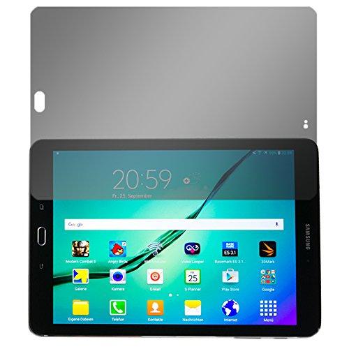 """Slabo Blickschutzfolie für Samsung Galaxy Tab S3 Sichtschutz Displayschutzfolie """"View Protection"""" Schwarz - privacy MADE IN GERMANY"""