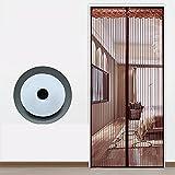 Fliegengitter Tür Insektenschutz Magnet Fliegenvorhang - Klettverschlüsse Passen Verschiedenes Größen von Türen - Klebmontage Ohne Bohren -A