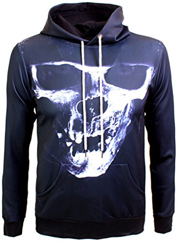 p Sweatshirts druck Kapuzenpullover mit bunt Farbspritzer Indian Chief Cacique Digital Print (King Diamond-kostüm Für Halloween)