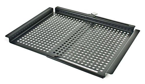 Charcoal Companion CC3010 SpaceSaver einstellbares Grill-Gitterrost, 2,59 x 40,64 x 32 cm, schwarz