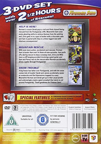 Image of Fireman Sam: Action Pack triple pack (Help Is Here, Mountain Rescue, Snow Trouble) [DVD]