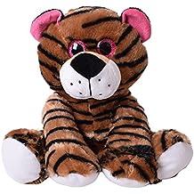Tigre Gato grande Depredador Peluche Animal De Peluche con Ojos de purpurina 30 cm