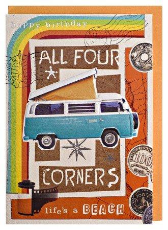 Geburtstagskarte Camper-Bus Weltenbummler