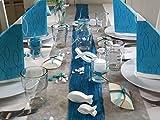 ZauberDeko Tischdeko Kommunion Konfirmation Petrol Blau Grau Weiß Fisch Set 20 Personen Isaak - 9