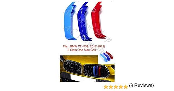 7 griglie Tuqiang 3D Motorsport Griglia Anteriore Trim Striscia Griglia di Decorazione Adesivi per X2 F39 2018