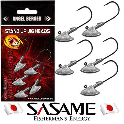 Angel-Berger Wild Devil Baits Stand Up Japan Jig Head 5 Stück Erie Jig Jighaken (4/0 25g) -