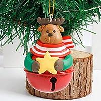 tirdds Stylish Christmas Tree Decoration Pendant Reindeer Bells Elk Santa Claus Deer Snowmanhanging Ornament Christmas Bell for Home Decoration(None Deer.)