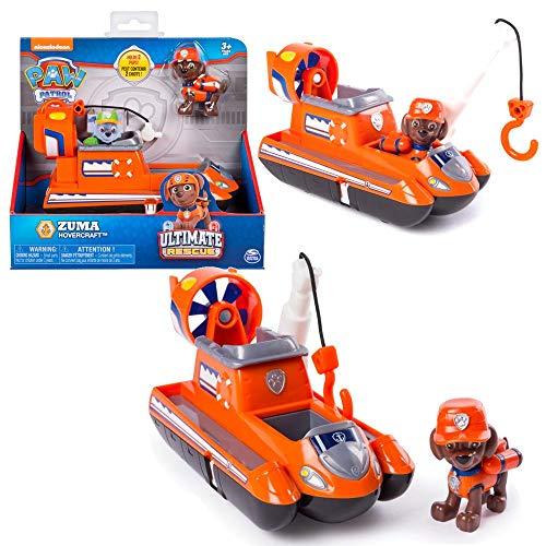 Spin Master Ultimate Rescue   Selección de Vehículos con Figura del Juego   Patrulla Canina, Figura:Zuma Aerodeslizador