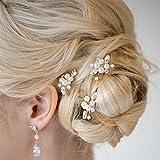 Aukmla Forcine per capelli da donna, da sposa, per matrimonio e feste, confezione da 3