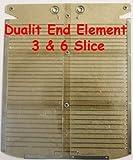 Toaster-Element für Dualit-Toaster für 6Scheiben, Endelement