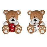 Une figurine ourson I love you - Modèle aléatoire - Petit ours brun et blanc Teddy bear je t'aime